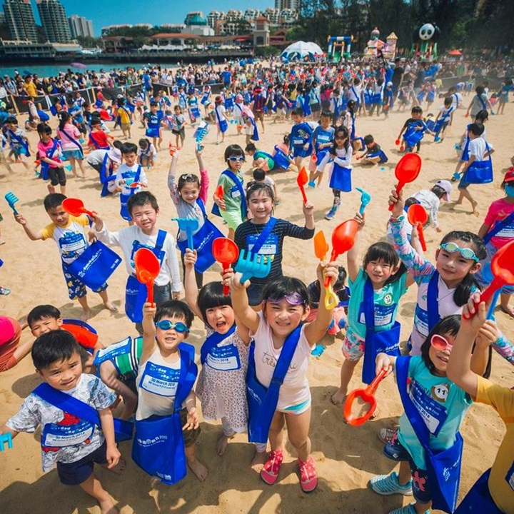 Fun outdoor games on Tai Pak Beach