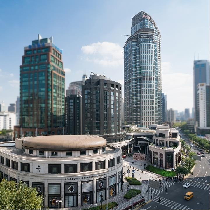 HKRI Taikoo Hui on Nanjing Road in Jing'an District is now an iconic landmark in Shanghai.